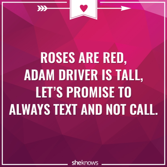 Funny Valentine's Day poem about texting
