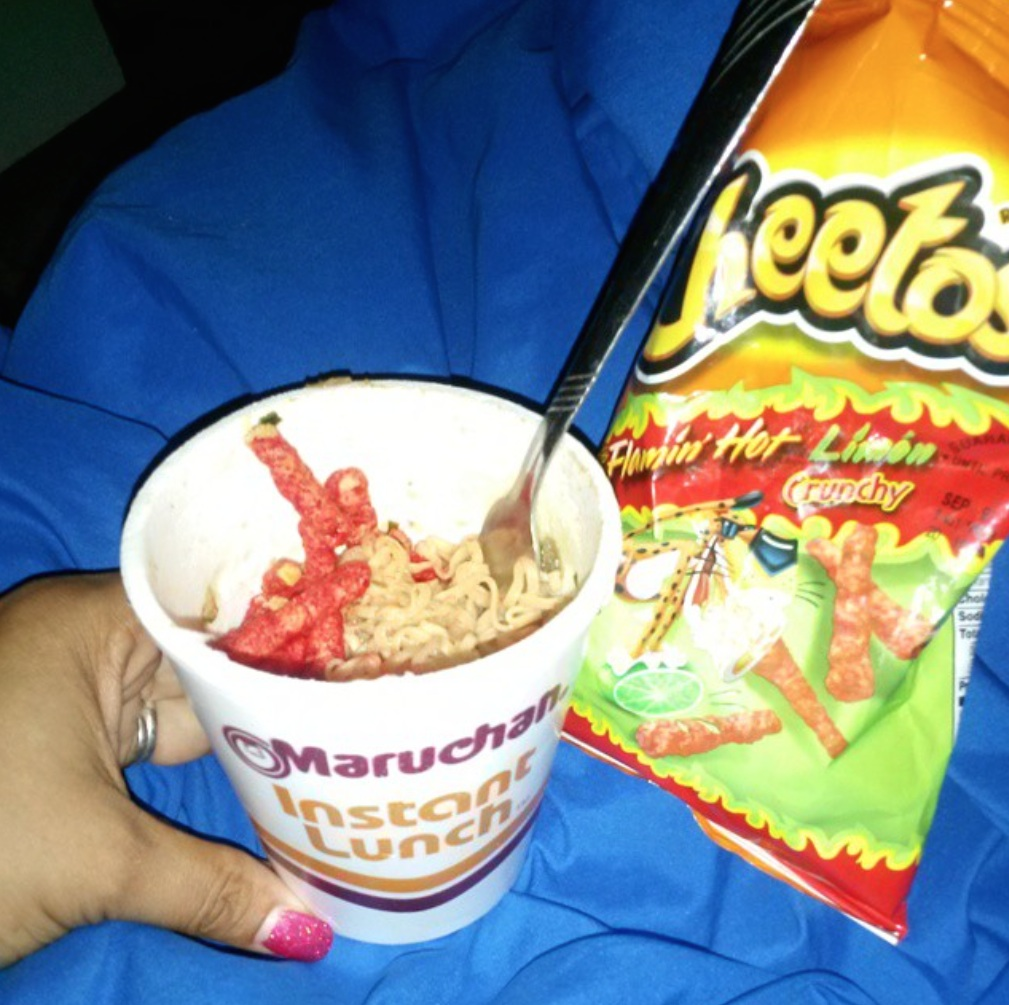 Cheetos cup of noodles