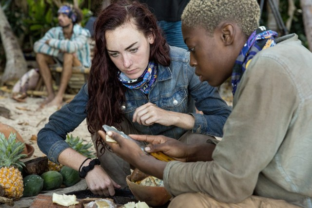 Chelsea Townsend with Desiree Afuye on Survivor: Ghost Island