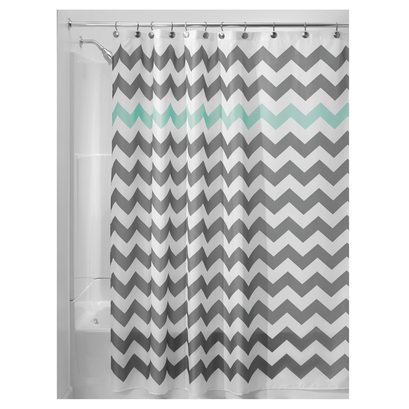 This chevron shower curtain from Target is over