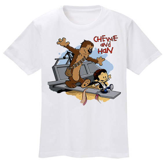chewie and han calvin and hobbes shirt