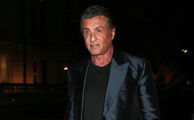 Sylvester Stallone seen arriving back at his hotel in London after a night out with daughters at Annabel's
