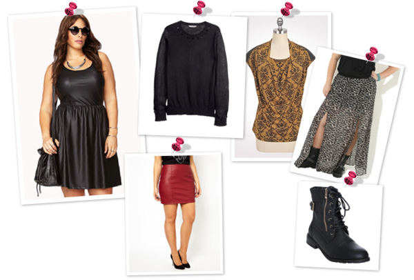 An edgy and trendy look for plus size women
