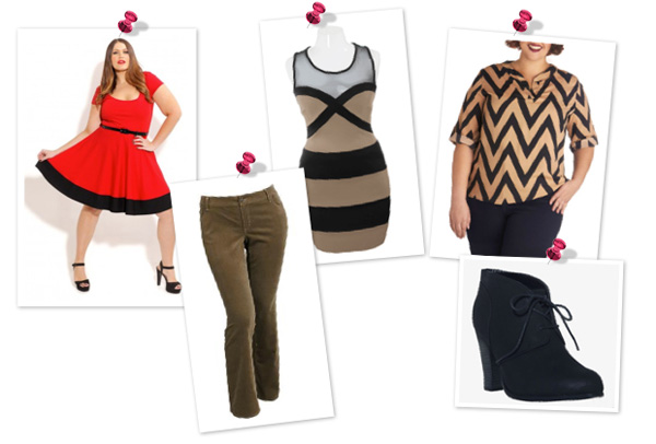 A girly look for plus size women