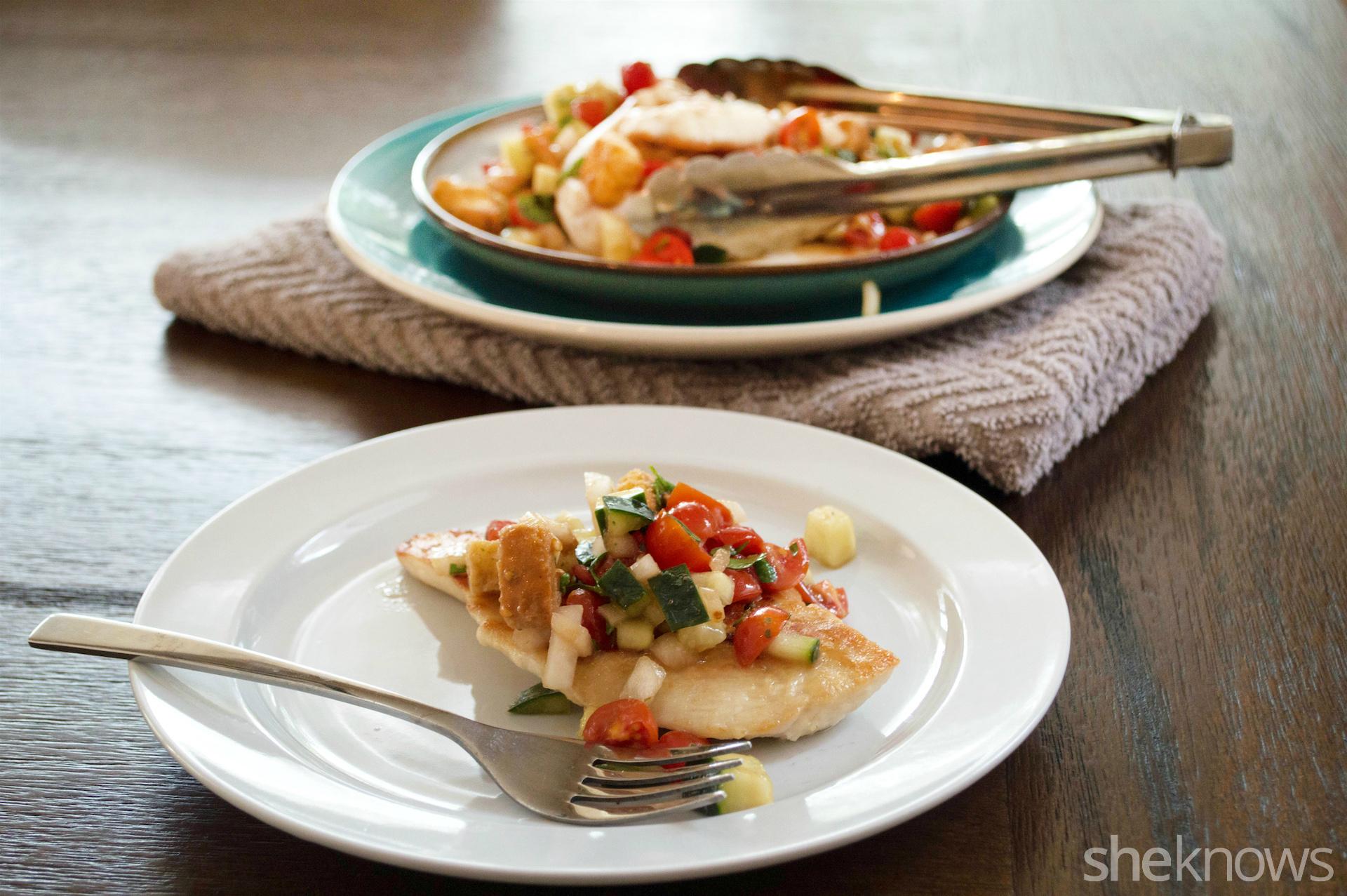 chicken scallopini panzanella