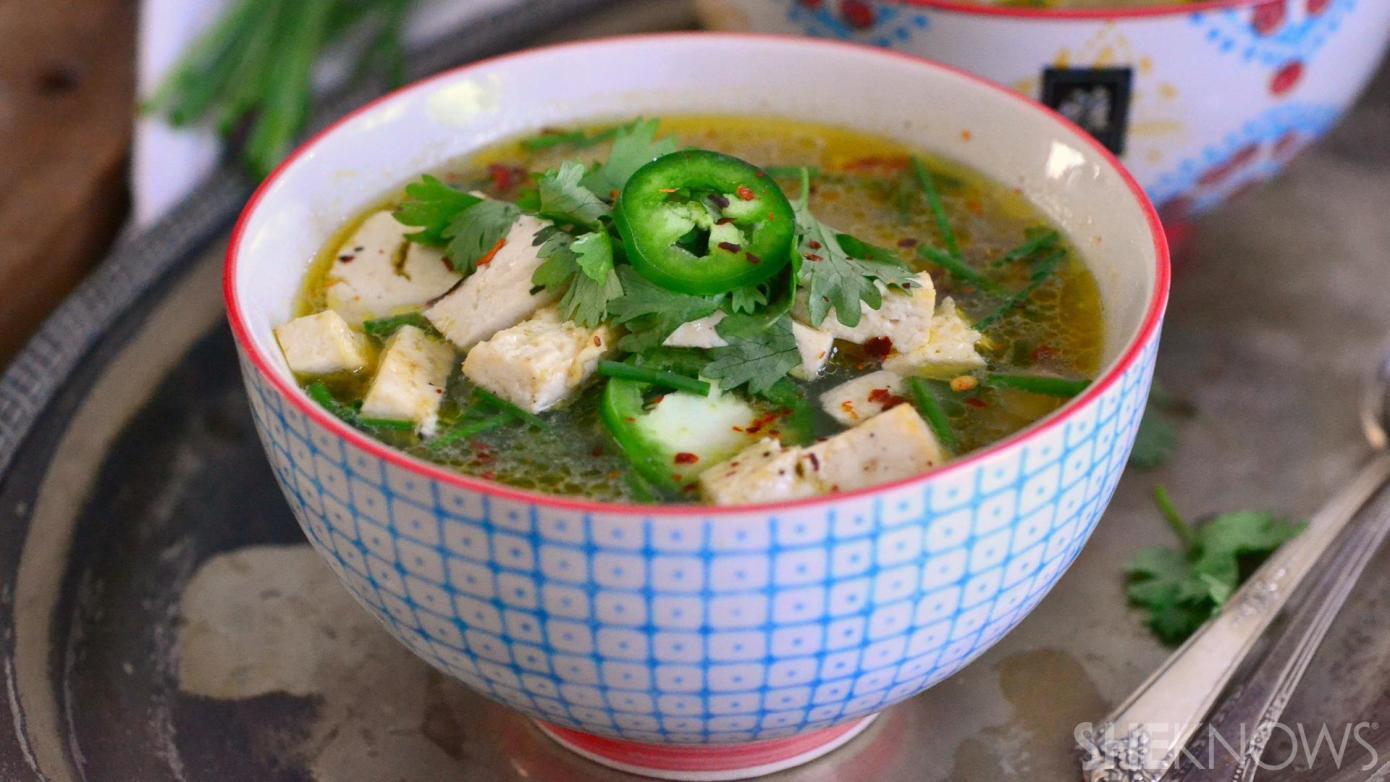 tofu and chicken pho
