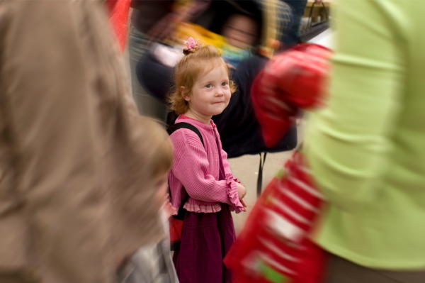 Child lost in crowd