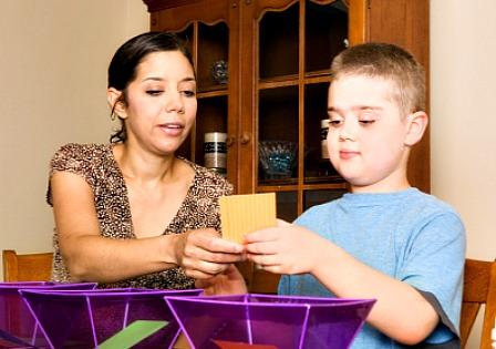 therapist with autistic child