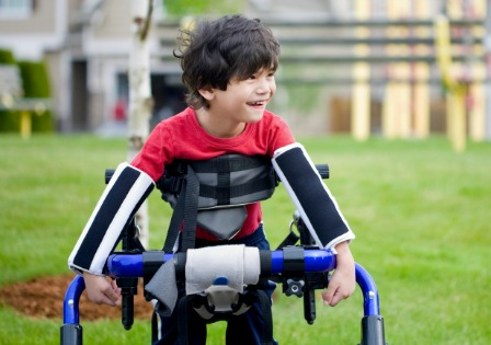 Boy with disability
