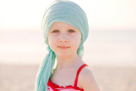 Child with hair loss