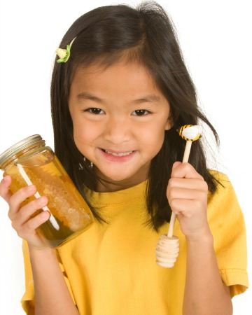 Child with honey
