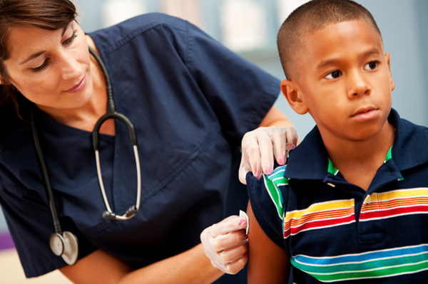 preparing your child for a flu shot