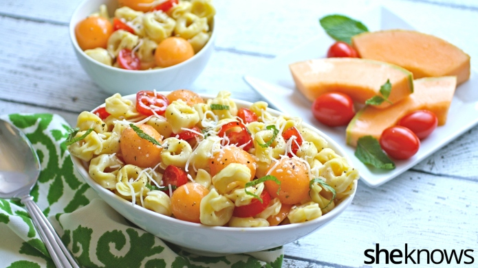Meatless Monday: Tortellini, tomato and melon