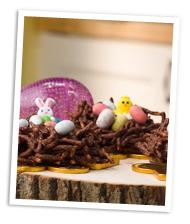 Chocolate bird nests