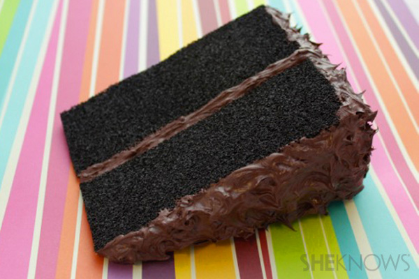 Postcard Cake Step 9: let dry