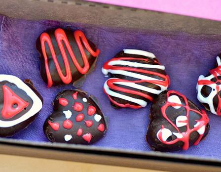 Chocolate homemade candy hearts