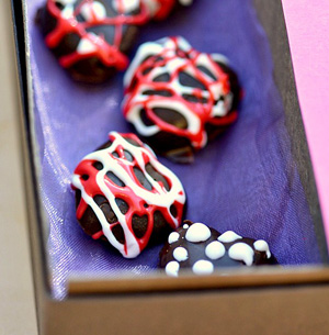Homemade milk chocolate hearts