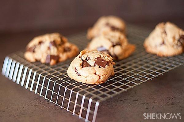 Flourless peanut butter-chocolate chunk cookies