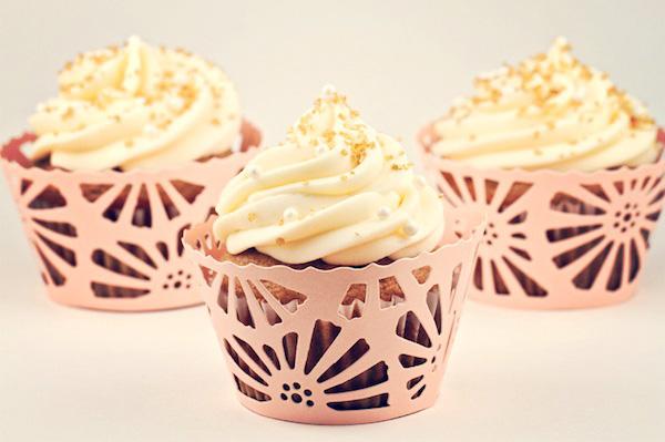 banana cupcakes with a chocolate center