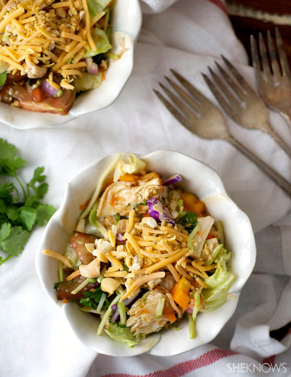 Chopped orange chicken chicken salad