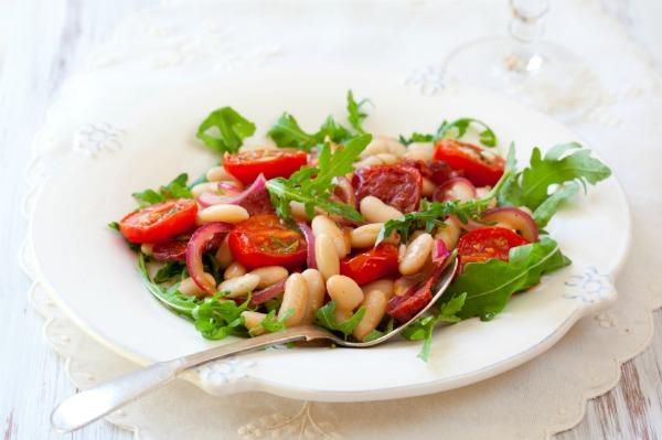 Chorizo and white bean salad