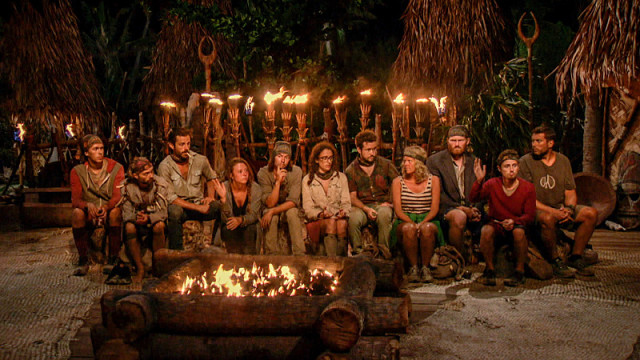 Merged tribe at Tribal Council on Survivor: Millennials Vs. Gen-X