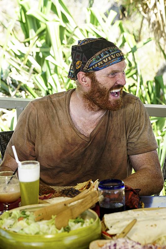 Chris Hammons enjoys Reward on Survivor: Millennials Vs. Gen-X