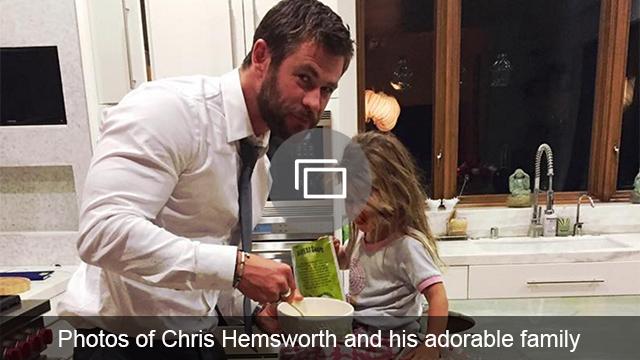 Chris Hemsworth and fam photos slideshow