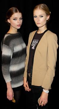 Backstage at Christian Siriano New York Fashion Week
