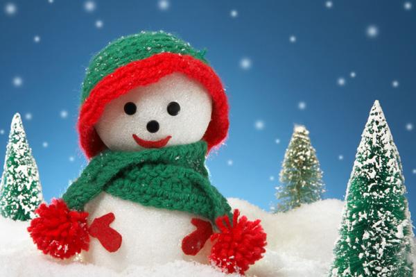 Christmas craft -- Styrofoam snowen