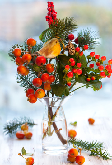 Bring the outside in -- Christmas decor