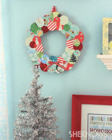 DIY scrap-paper wreath