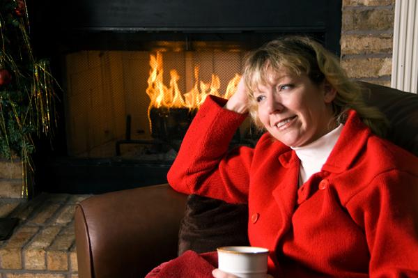 Christmas Woman Relax