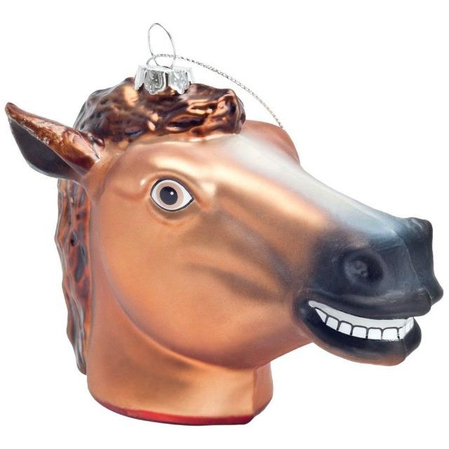 insane horse ornament