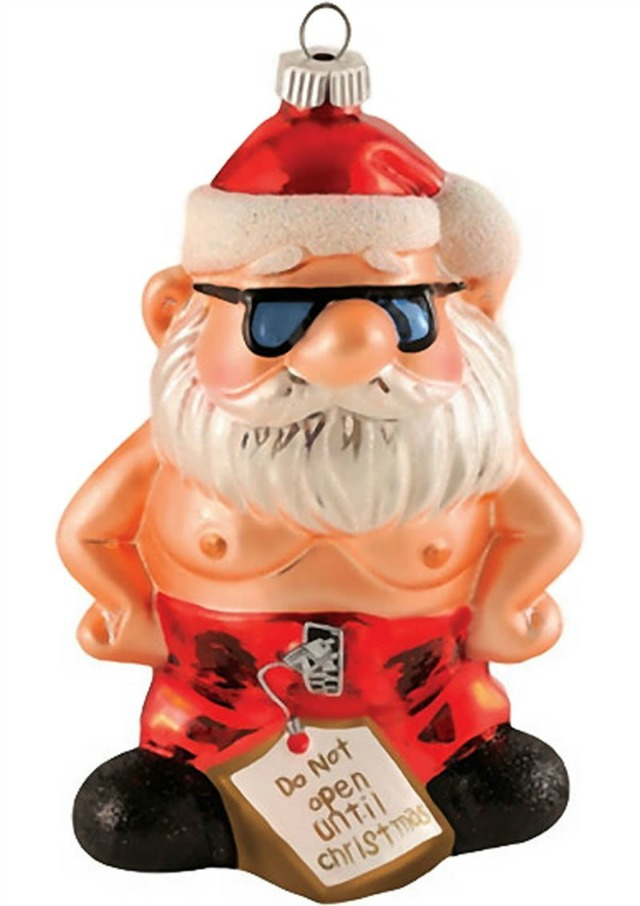 shirtless santa ornament - 11 Horrible Christmas Tree Ornaments That Shouldn't Exist But Do