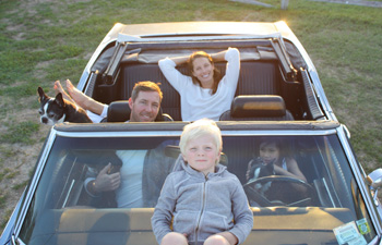Christy Turlington and family