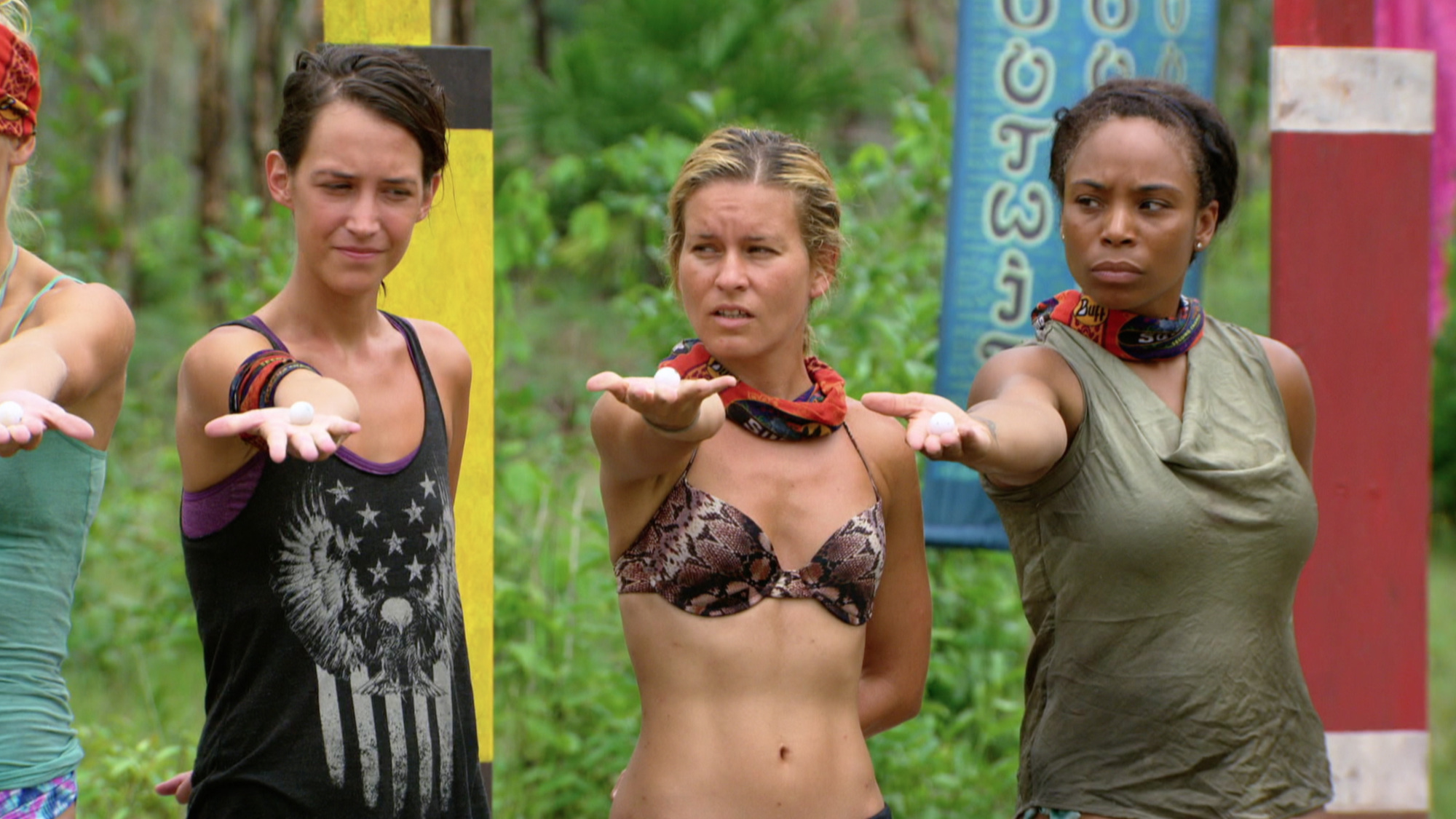 Ciera Eastin, Abi-Maria Gomes and Tasha Fox make shelter decision on Survivor: Second Chance
