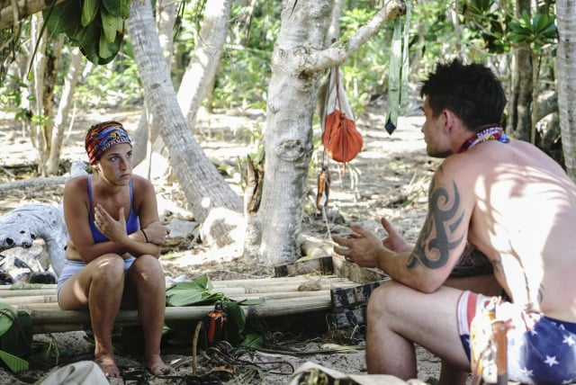 Ciera Eastin with Caleb Reynolds on Survivor: Game Changers