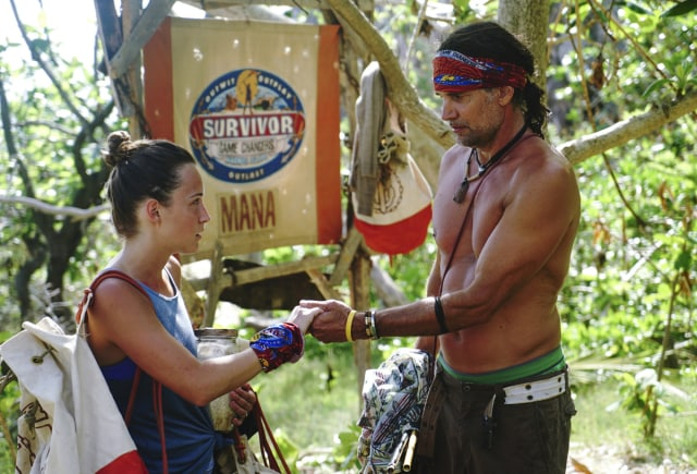 Ciera Eastin talks with Troyzan Robertson on Survivor: Game Changers