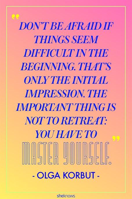 Inspiring Quotes From Female Athletes: Olga Korbut