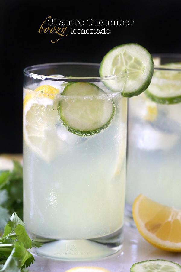 cilantro-cucumber-boozy-lemonade