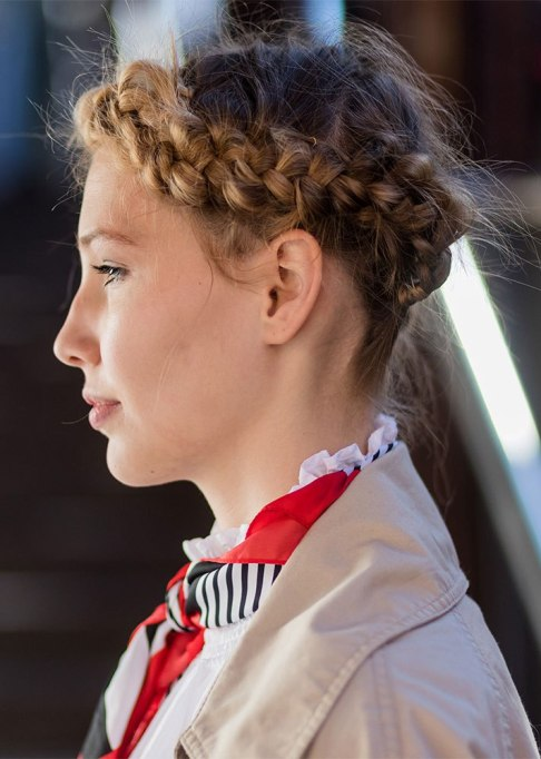 Standout Ways To Style Long Hair | Milkmaid Braid