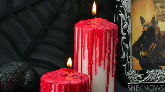 DIY bloody candles make a gory,