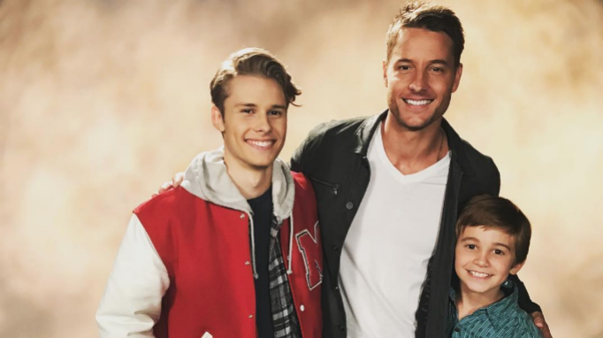 Logan Shroyer, Justin Hartley, Parker Bates, 'This Is Us' Behind the Scenes