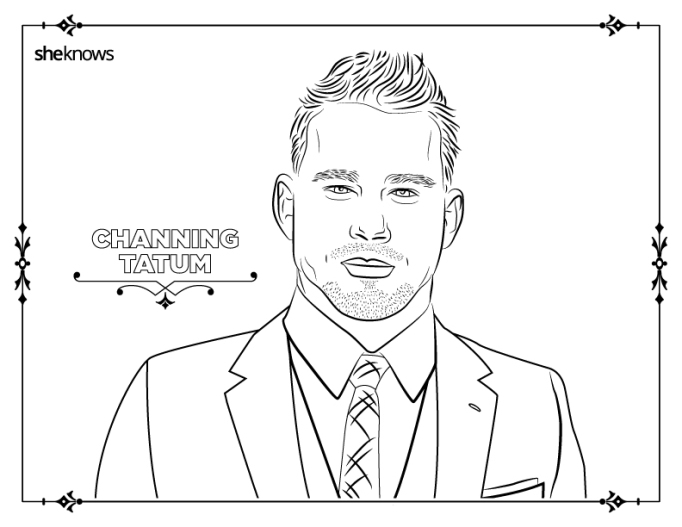 Channing Tatum coloring-book page