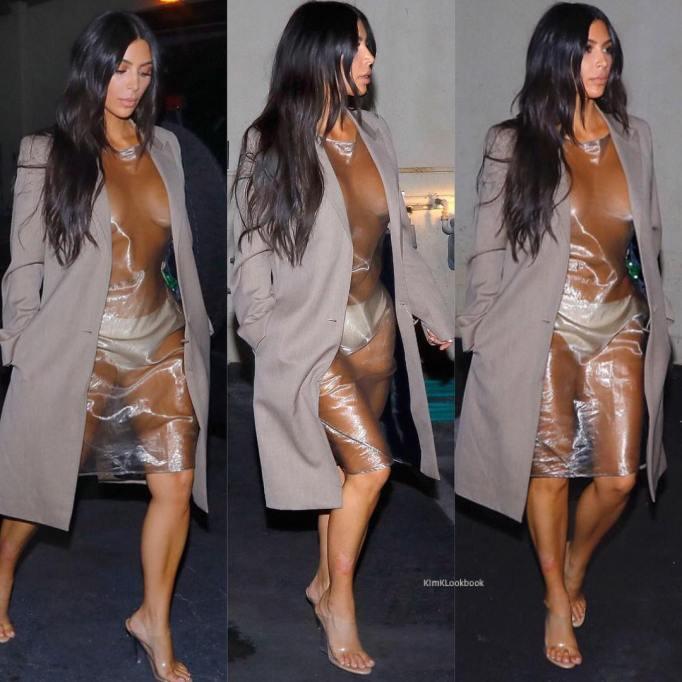Kim Kardashian's Most Naked Looks: Arriving at Nobu Restaurant in Calabasas | Kim Kardashian Fashion
