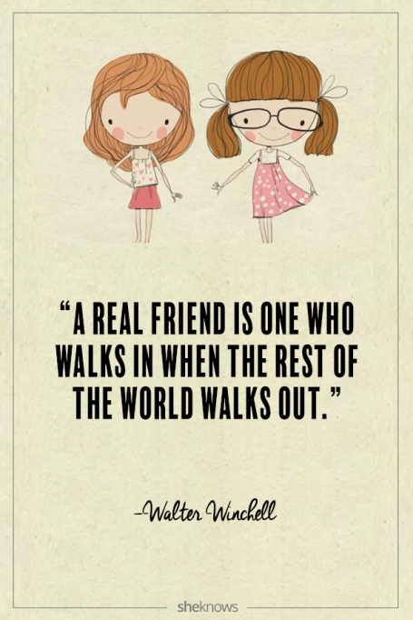 Walter Winchell quote about friendship
