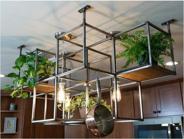 Pot Rack And Planter In One