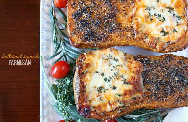 Butternut squash Parmesan