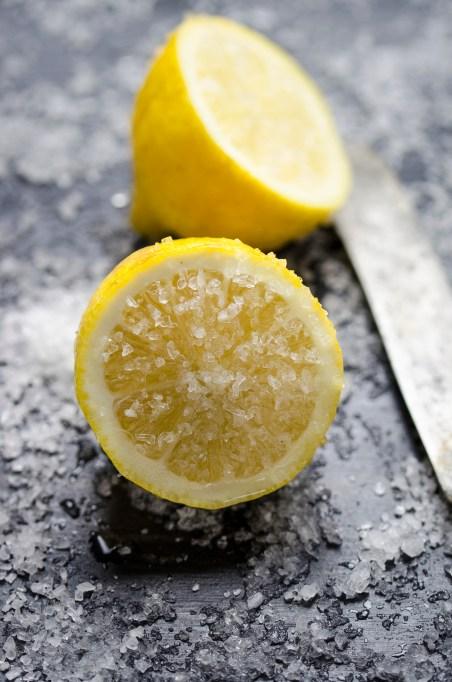Lemons and Himalayan sea salt